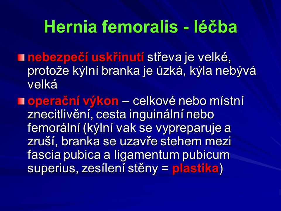 Hernia femoralis - léčba