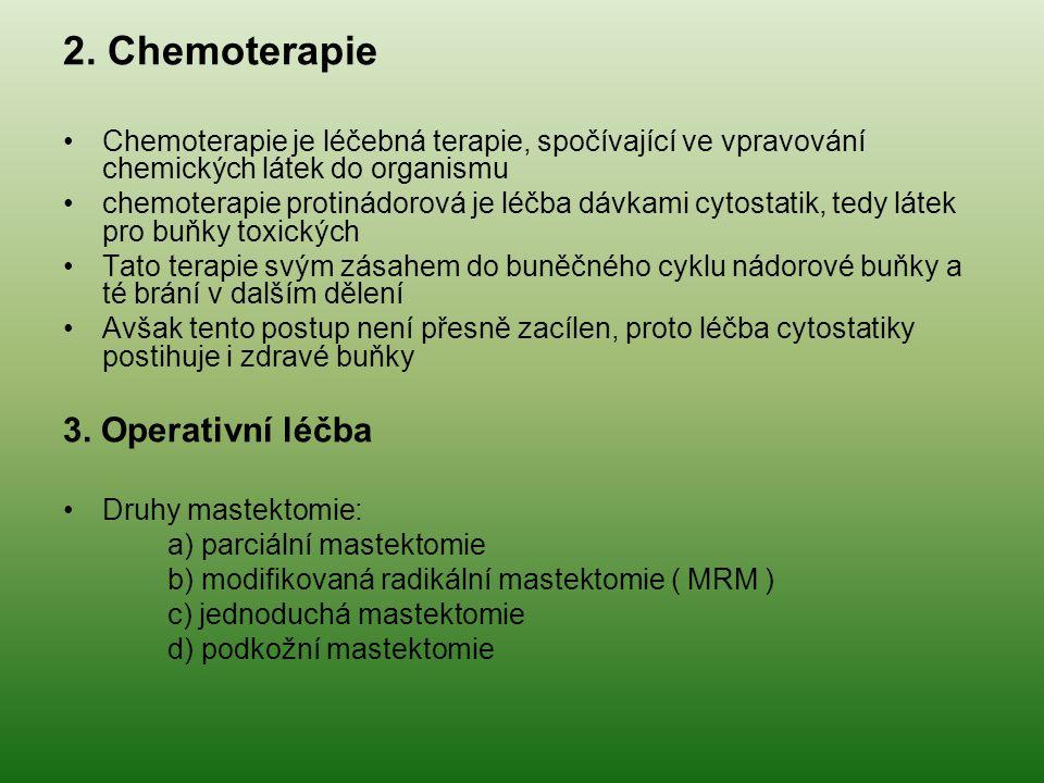 2. Chemoterapie 3. Operativní léčba