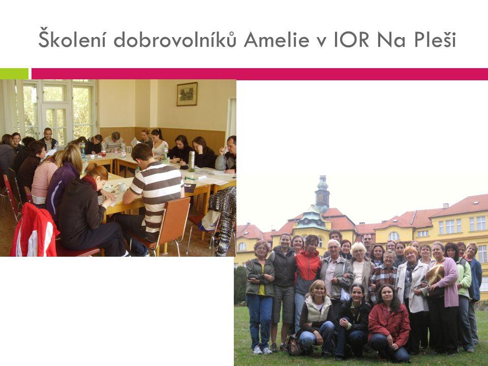 Školení dobrovolníků Amelie v IOR Na Pleši