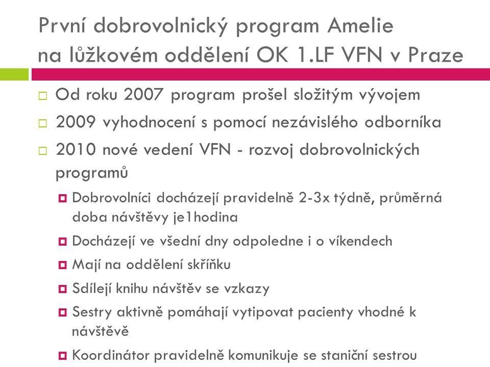 První dobrovolnický program Amelie na lůžkovém oddělení OK 1