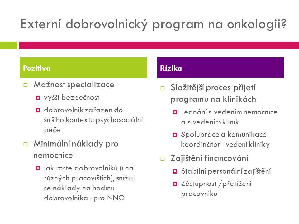 Externí dobrovolnický program na onkologii
