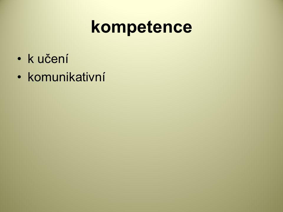 kompetence k učení komunikativní