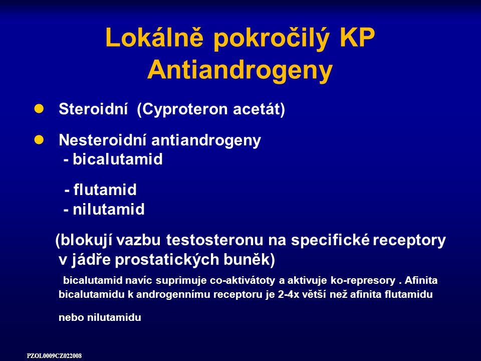 Lokálně pokročilý KP Antiandrogeny