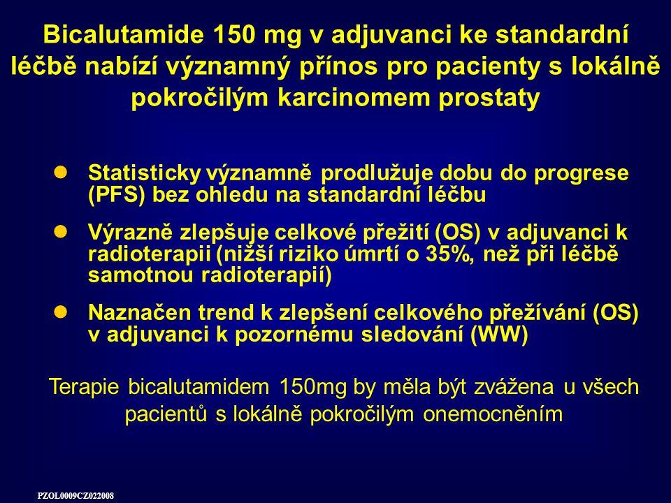 Bicalutamide 150 mg v adjuvanci ke standardní léčbě nabízí významný přínos pro pacienty s lokálně pokročilým karcinomem prostaty