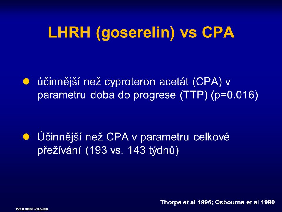 LHRH (goserelin) vs CPA