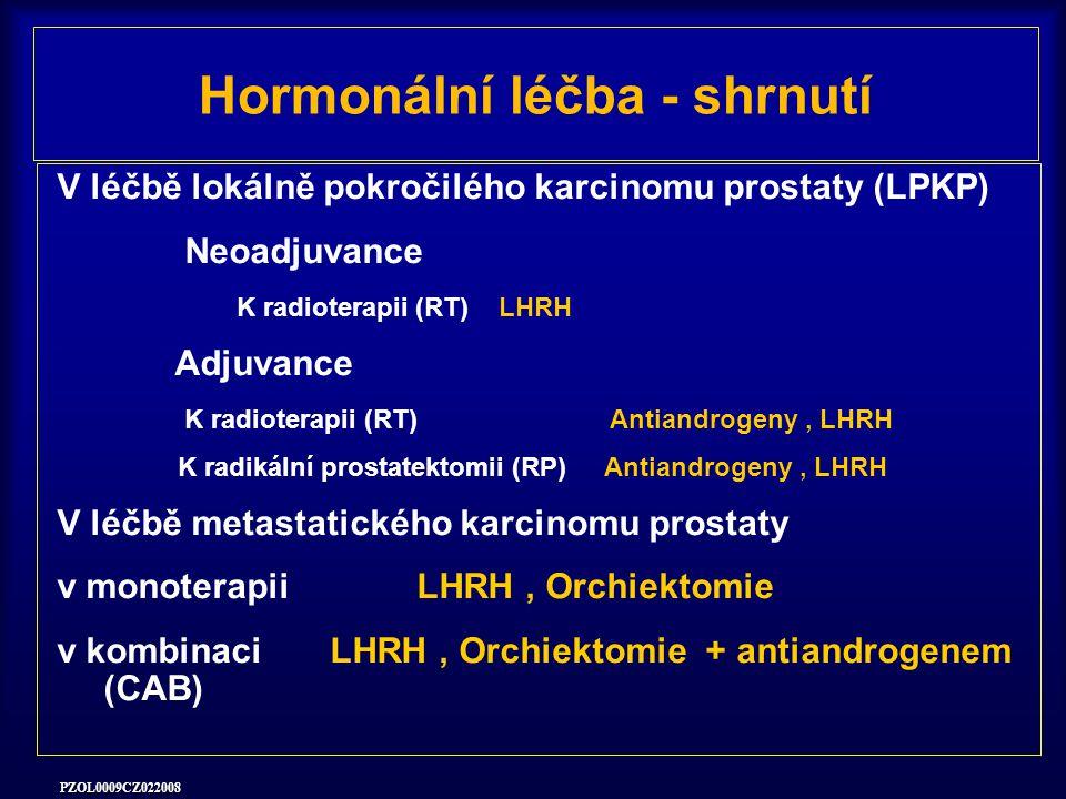 Hormonální léčba - shrnutí