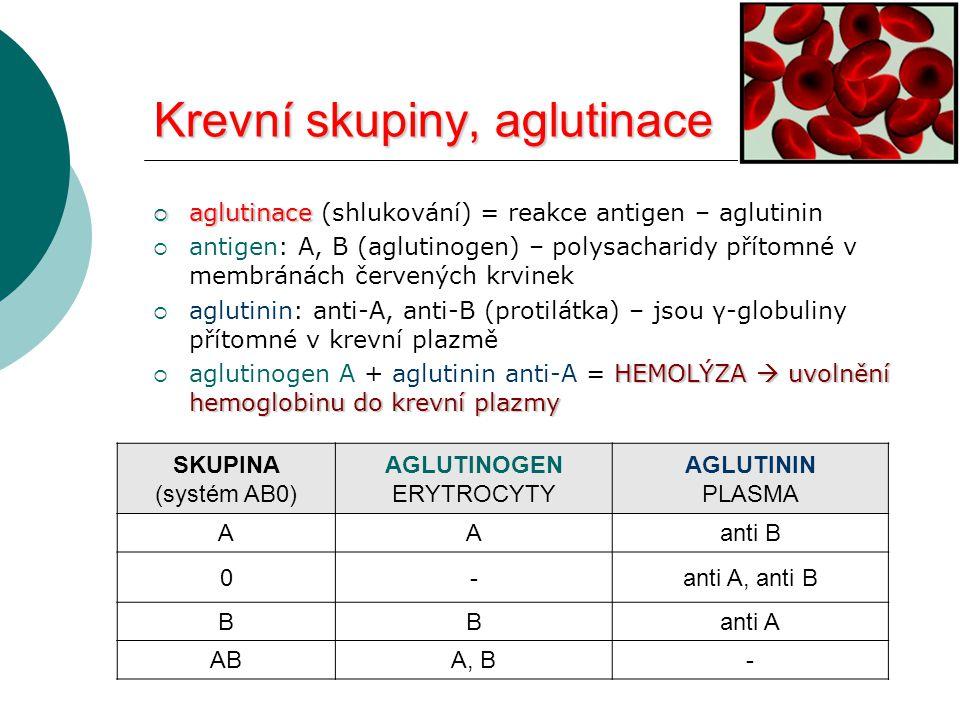 Krevní skupiny, aglutinace