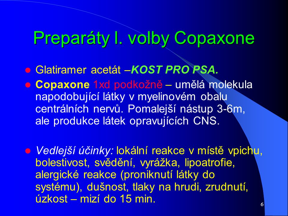 Preparáty l. volby Copaxone