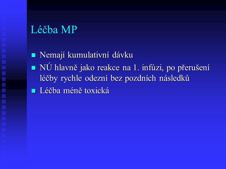 Léčba MP Nemají kumulativní dávku