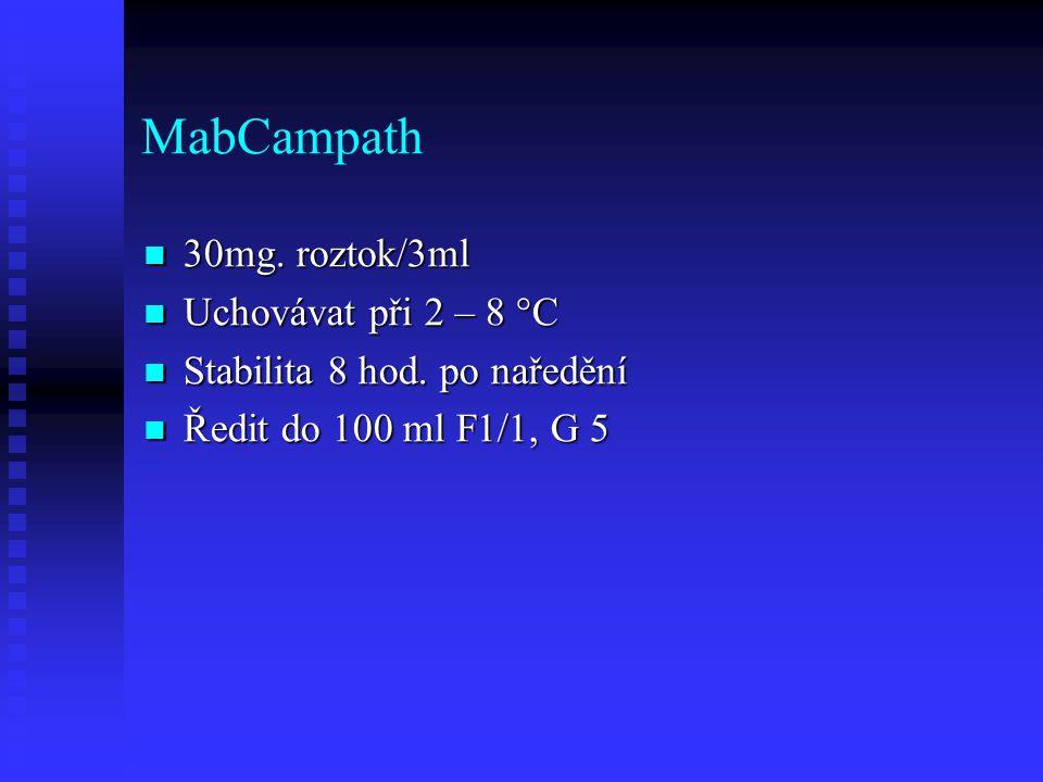 MabCampath 30mg. roztok/3ml Uchovávat při 2 – 8 °C