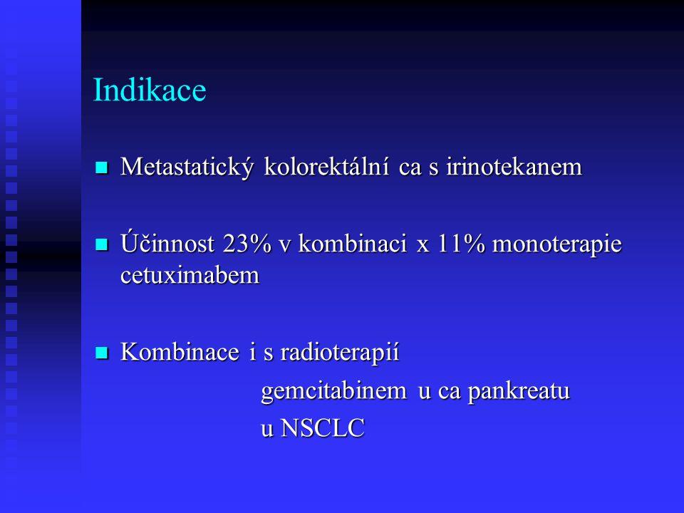 Indikace Metastatický kolorektální ca s irinotekanem
