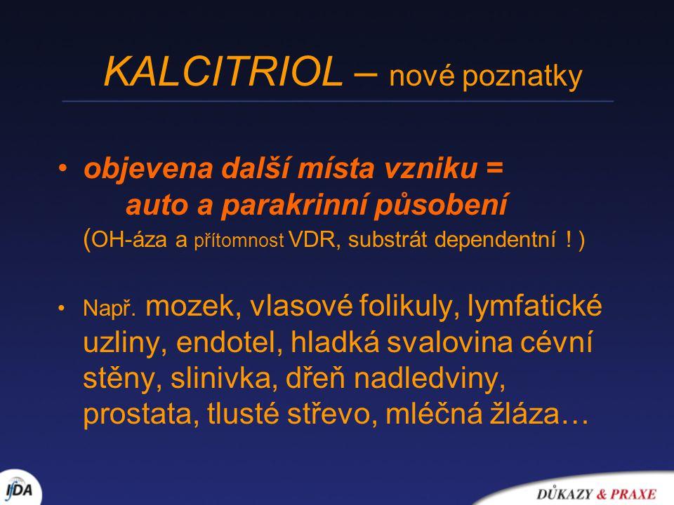 KALCITRIOL – nové poznatky
