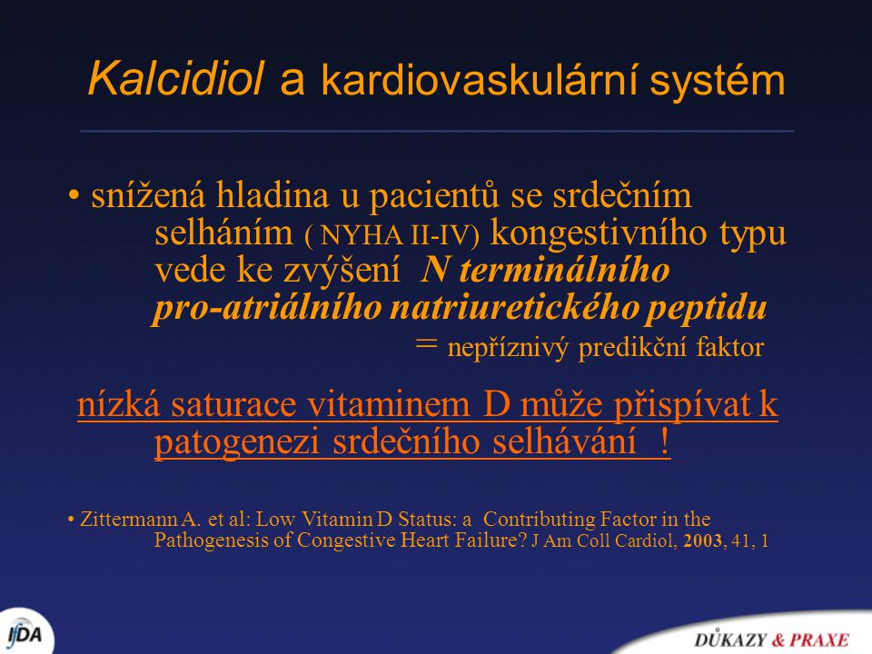 Kalcidiol a kardiovaskulární systém