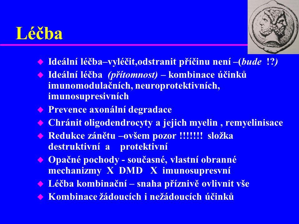 Léčba Ideální léčba–vyléčit,odstranit příčinu není –(bude ! )