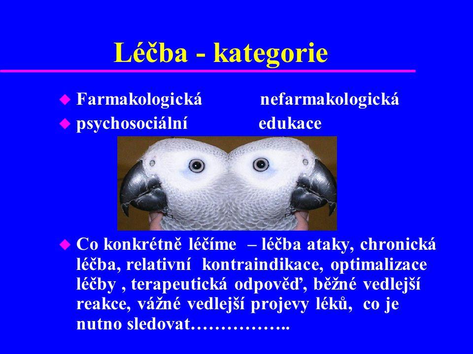 Léčba - kategorie Farmakologická nefarmakologická