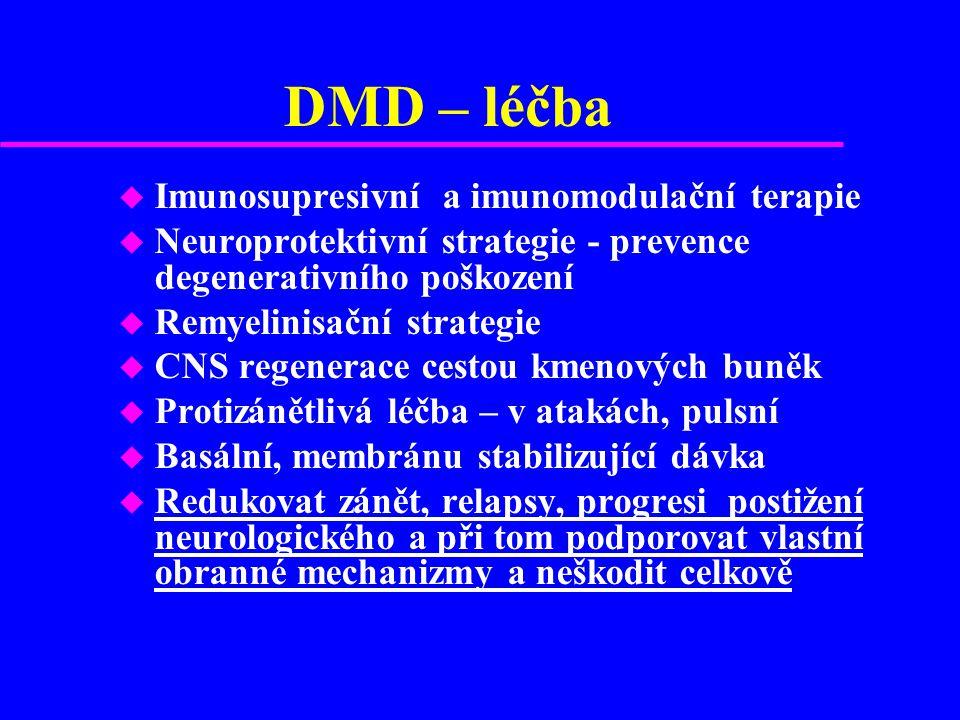 DMD – léčba Imunosupresivní a imunomodulační terapie