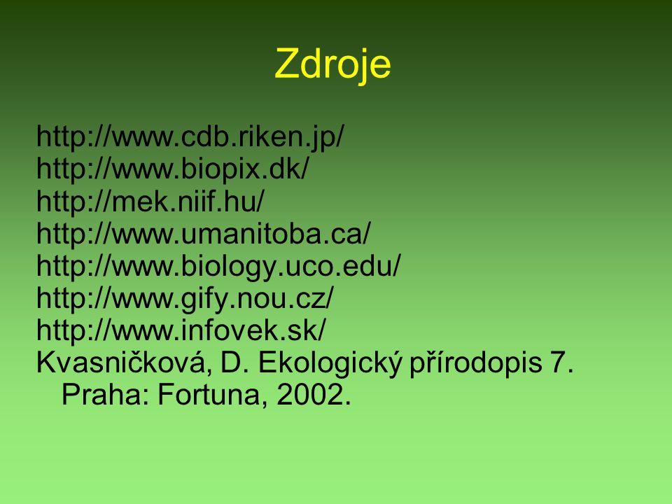 Zdroje http://www.cdb.riken.jp/ http://www.biopix.dk/