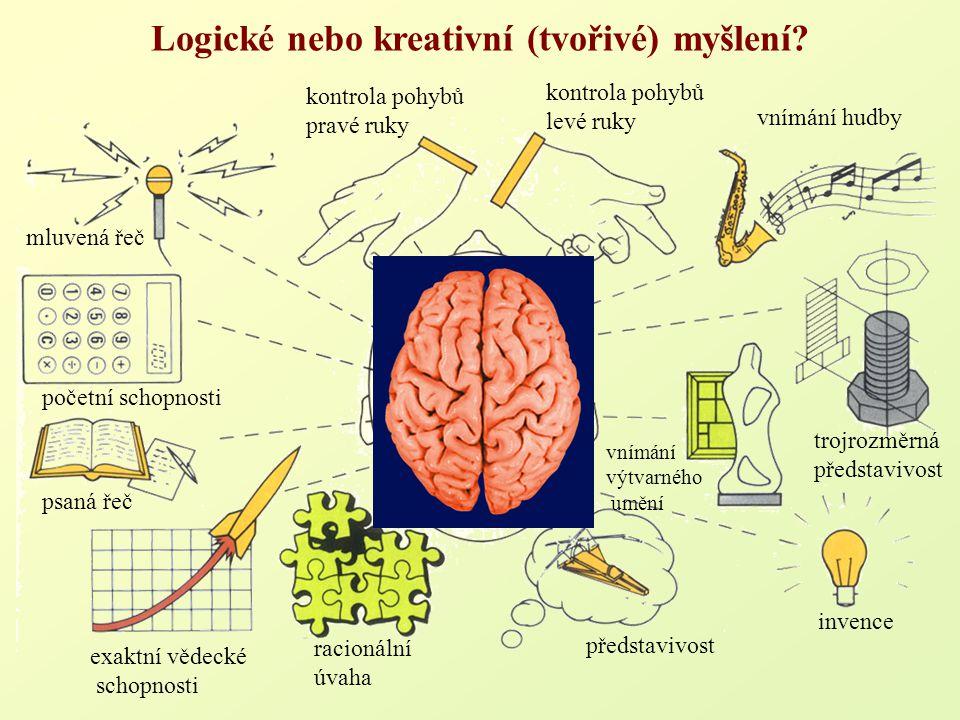 Logické nebo kreativní (tvořivé) myšlení