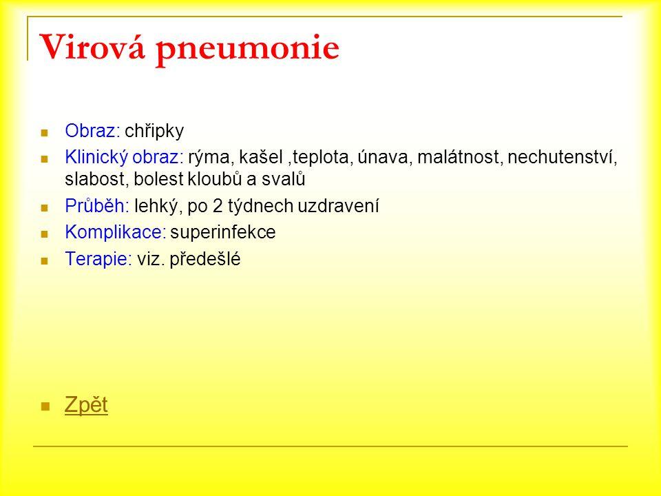 Virová pneumonie Zpět Obraz: chřipky
