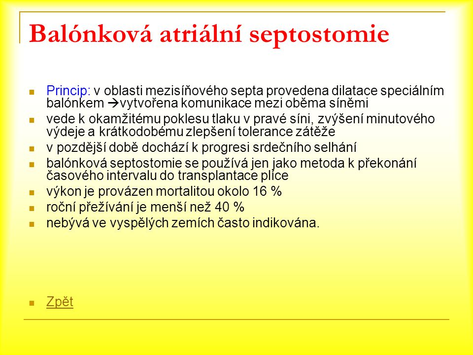 Balónková atriální septostomie