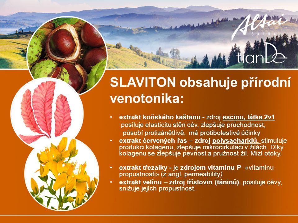 SLAVITON obsahuje přírodní venotonika: