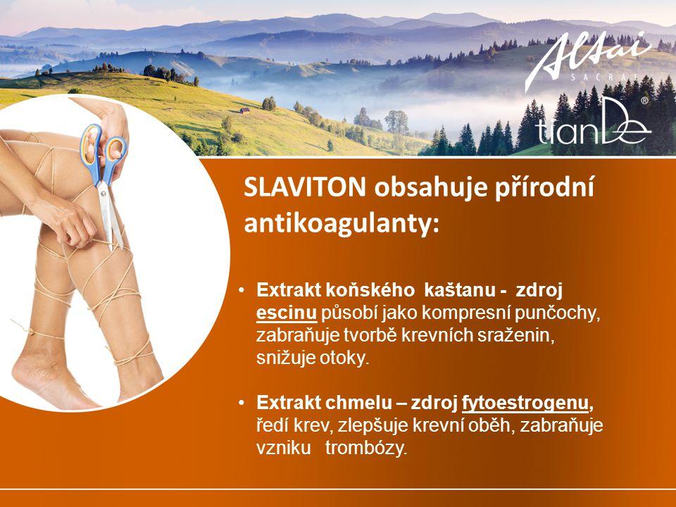 SLAVITON obsahuje přírodní antikoagulanty: