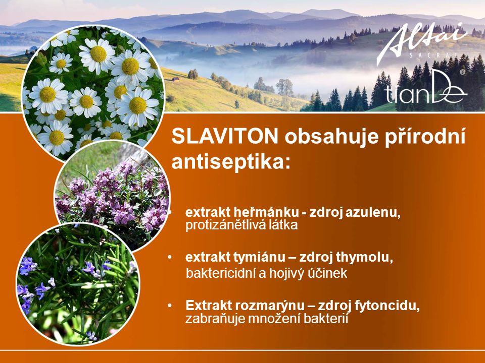 SLAVITON obsahuje přírodní antiseptika: