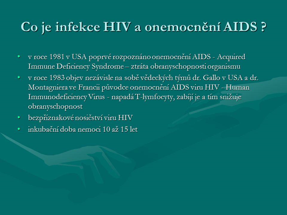 Co je infekce HIV a onemocnění AIDS