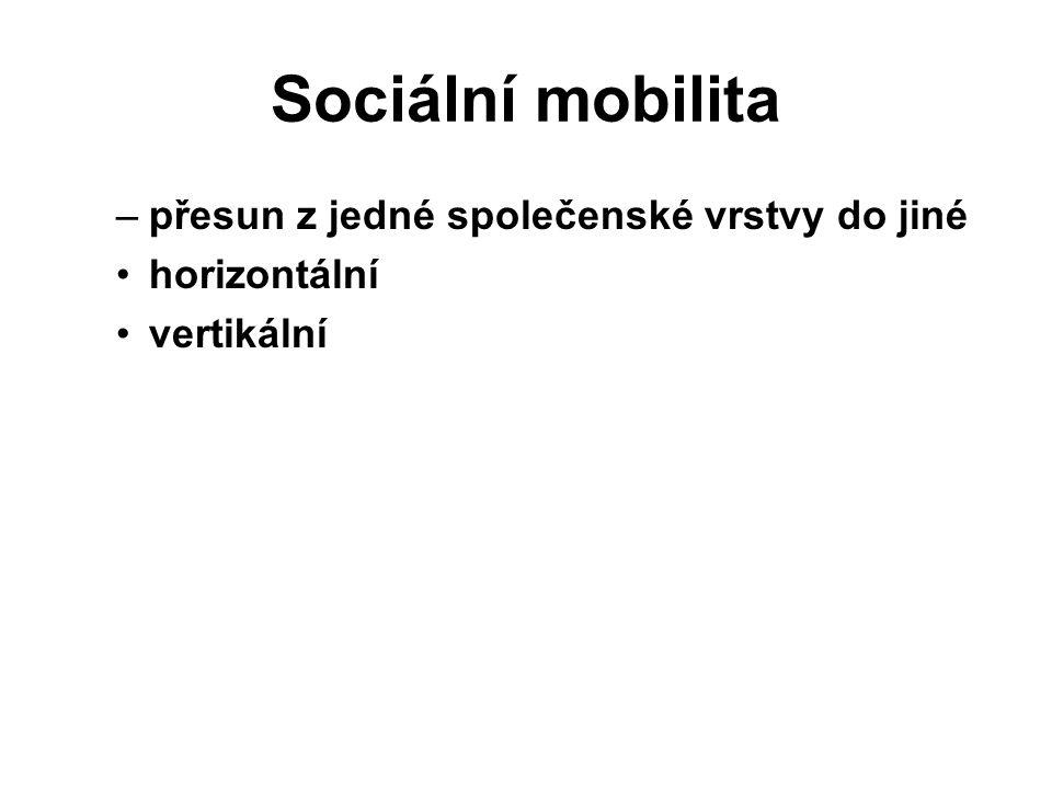 Sociální mobilita přesun z jedné společenské vrstvy do jiné