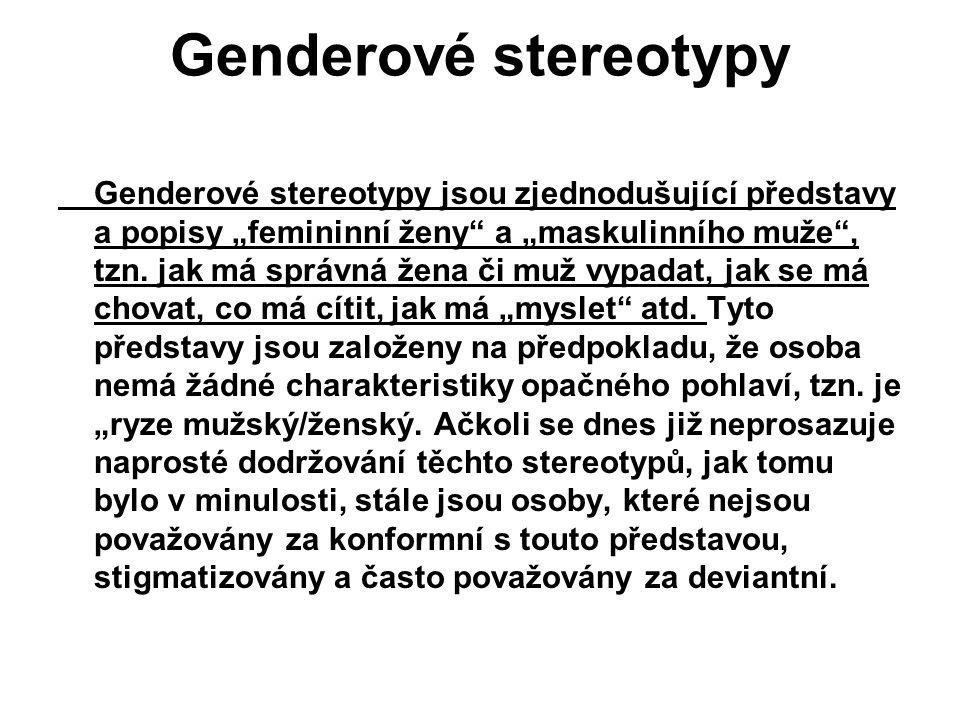 Genderové stereotypy