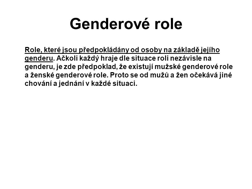 Genderové role