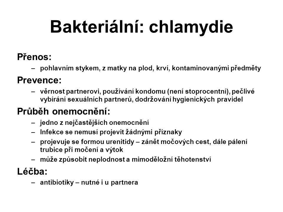 Bakteriální: chlamydie