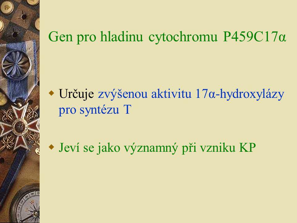 Gen pro hladinu cytochromu P459C17α