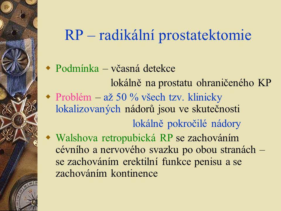 RP – radikální prostatektomie