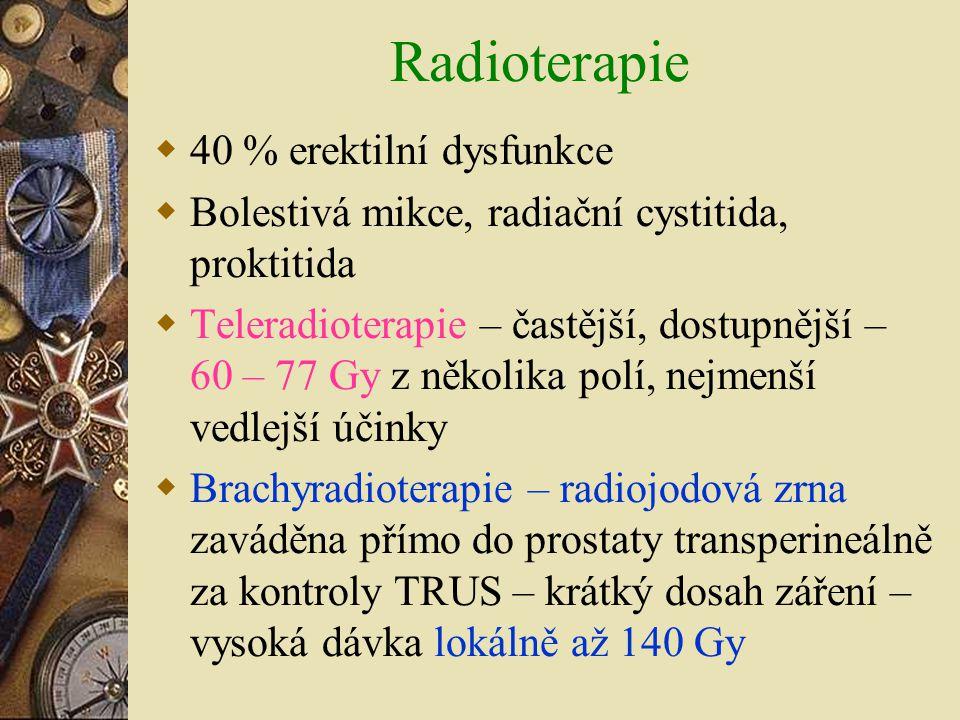 Radioterapie 40 % erektilní dysfunkce
