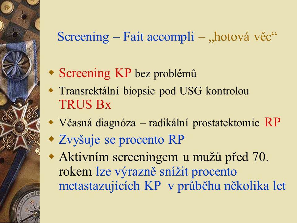 """Screening – Fait accompli – """"hotová věc"""