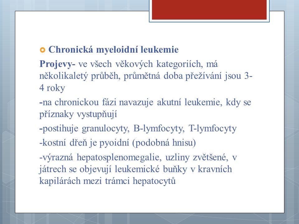 Chronická myeloidní leukemie
