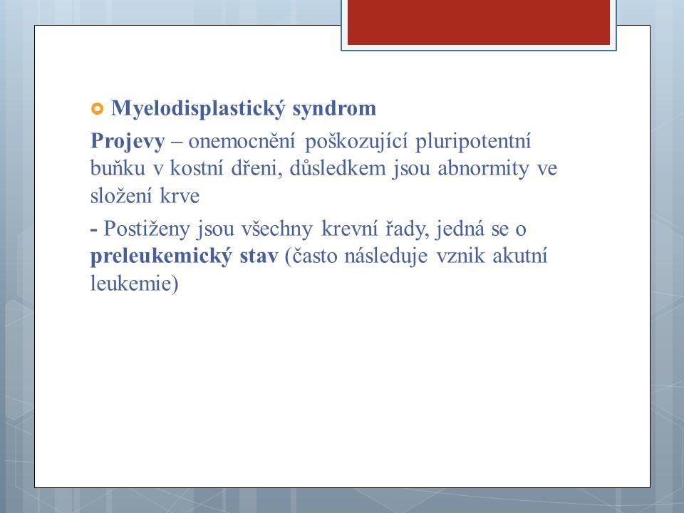 Myelodisplastický syndrom