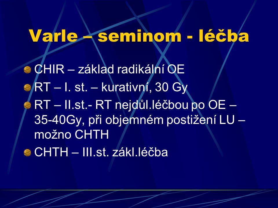 Varle – seminom - léčba CHIR – základ radikální OE