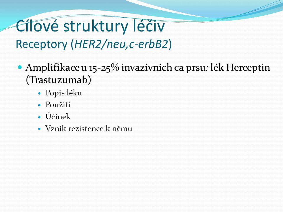 Cílové struktury léčiv Receptory (HER2/neu,c-erbB2)