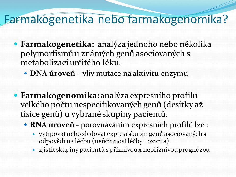 Farmakogenetika nebo farmakogenomika