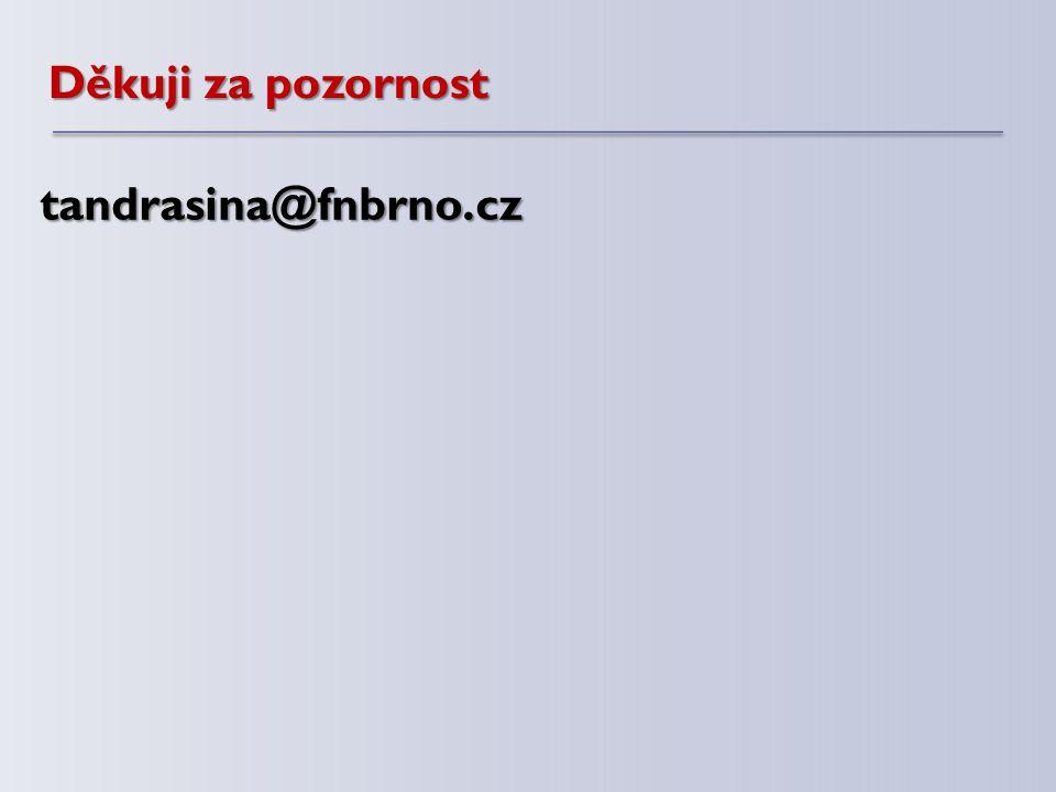 Děkuji za pozornost tandrasina@fnbrno.cz