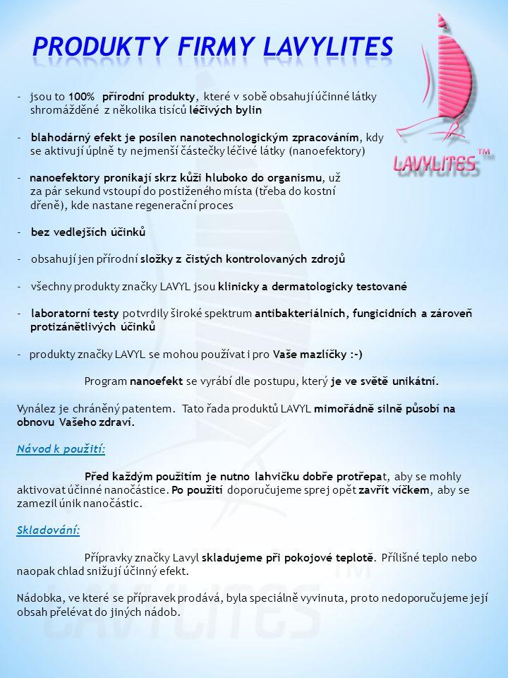 Produkty firmy Lavylites