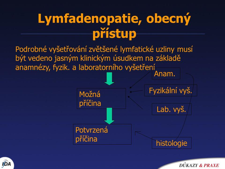 Lymfadenopatie, obecný přístup