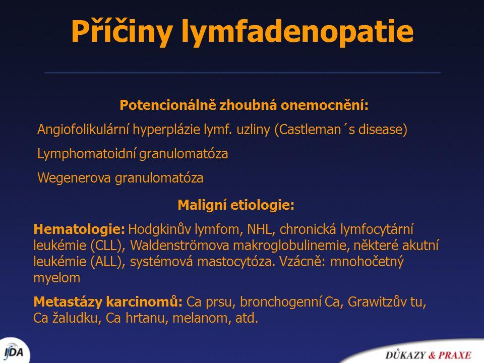 Příčiny lymfadenopatie