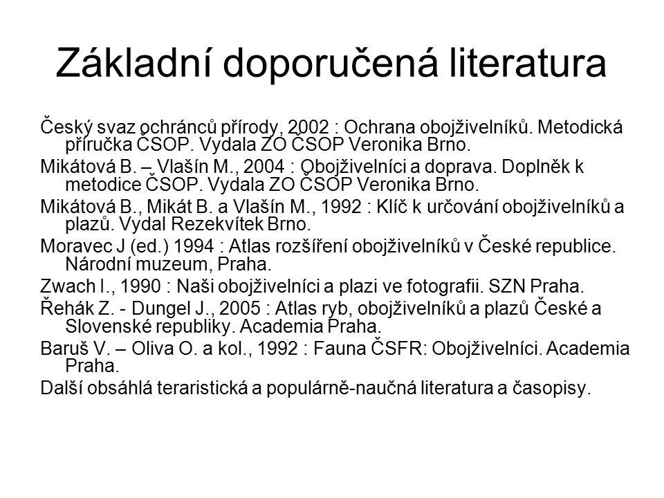 Základní doporučená literatura