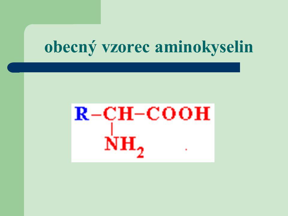 obecný vzorec aminokyselin