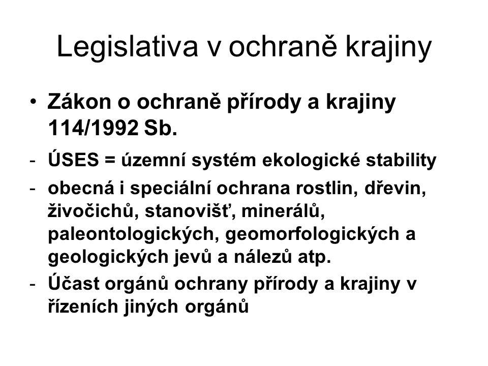 Legislativa v ochraně krajiny
