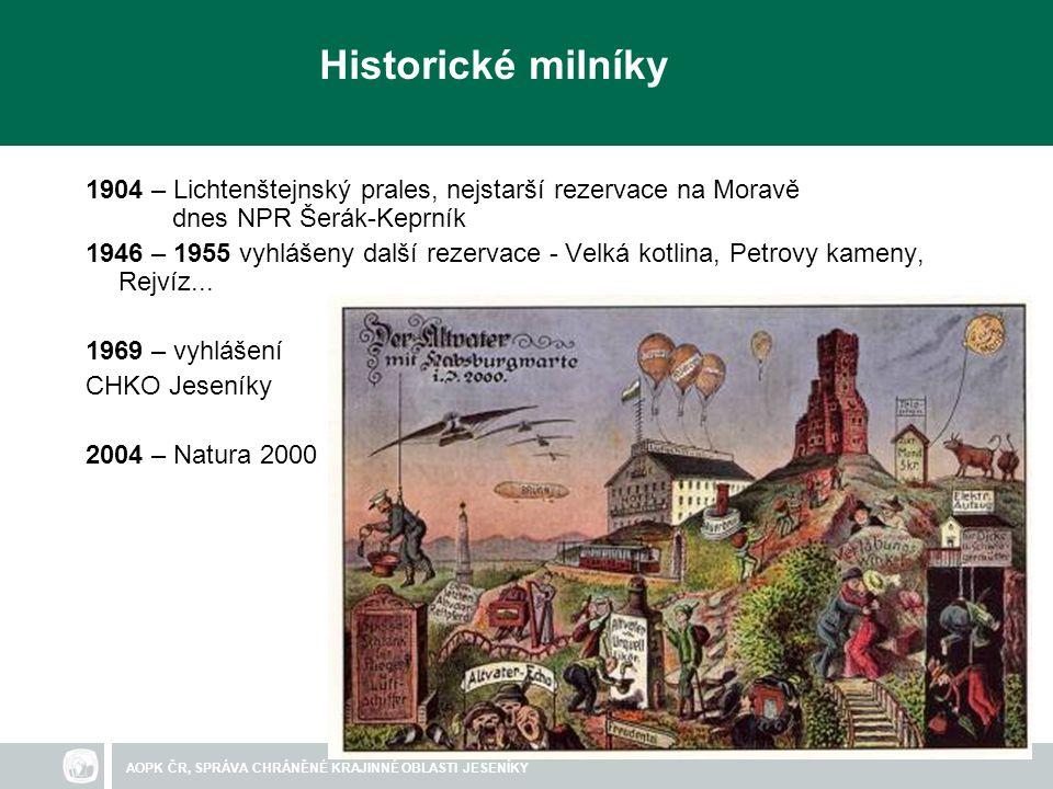 Historické milníky 1904 – Lichtenštejnský prales, nejstarší rezervace na Moravě dnes NPR Šerák-Keprník.