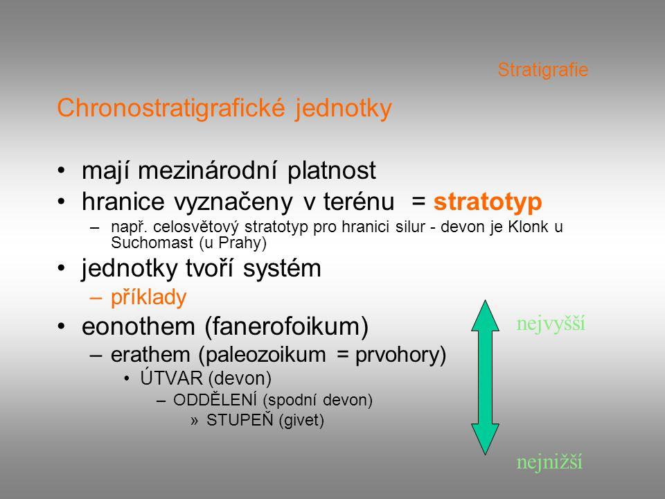 Chronostratigrafické jednotky mají mezinárodní platnost